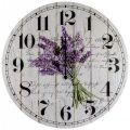 Dřevěné nástěnné hodiny - Levandule