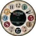 Dřevěné nástěnné hodiny - OLD TOWN CLOCKS