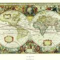 Henricus Houdius - Antique Map of the World