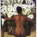 Diego Rivera - Nude with Calla Lilies